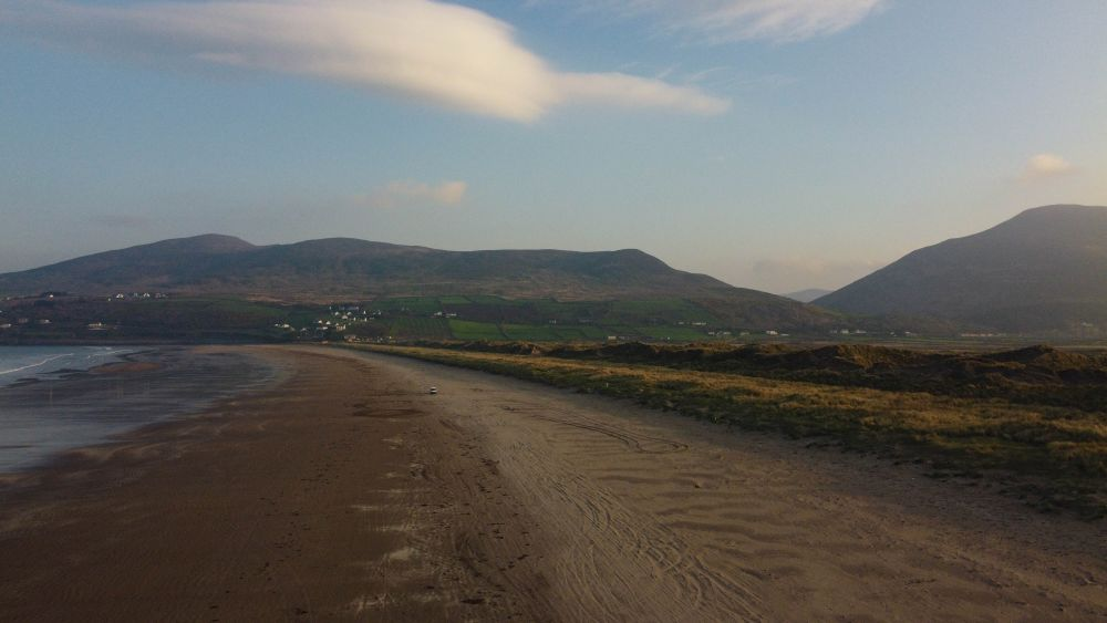 Photograph of Inch beach County Kerry in lateral morning light